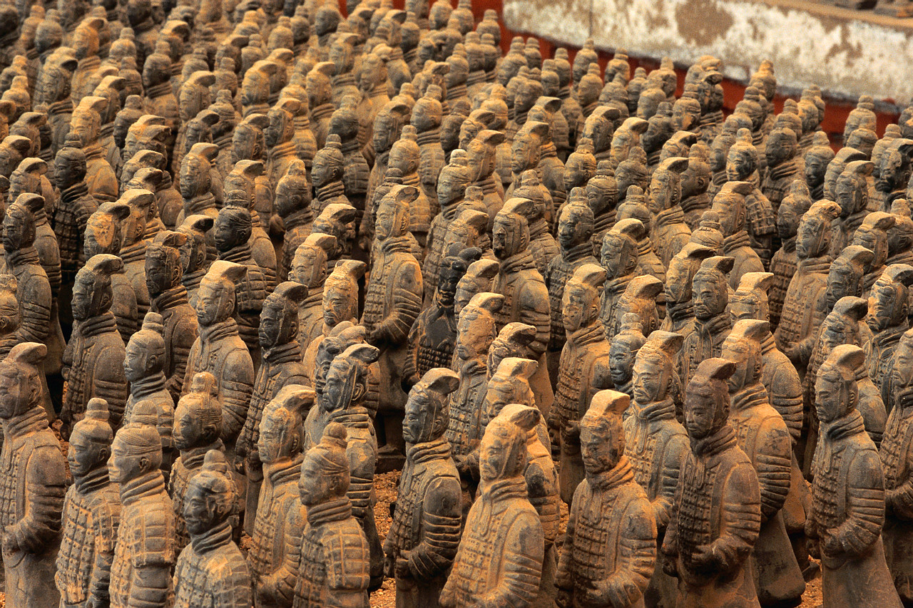 Terracotta Soldiers from the Tomb of Qin Shihuang Di